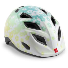 MET Genio Helmet Kids, iridescent white flowers glossy